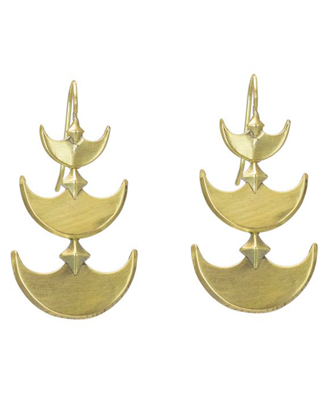 Pit & Pendelum Earrings in Brass