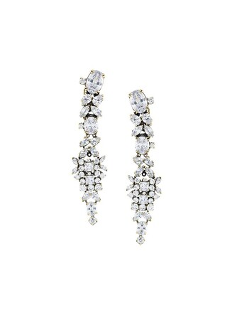 women earrings white jewels