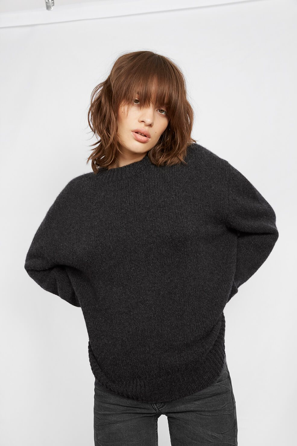 Rosie Cashmere Knit - Charcoal