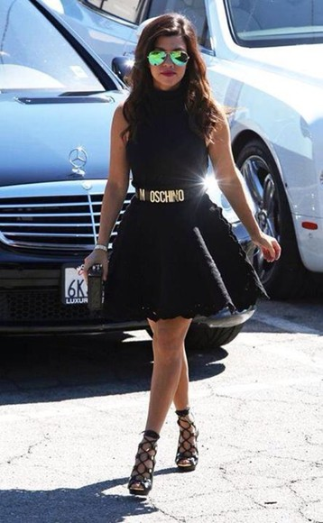 dress kourtney kardashian summer, black dress