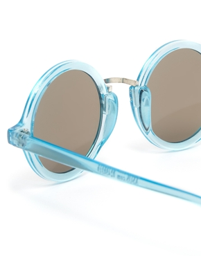 ASOS | ASOS Exaggerated Metal Bridge Round Sunglasses at ASOS