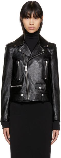 Saint Laurent jacket classic leather black
