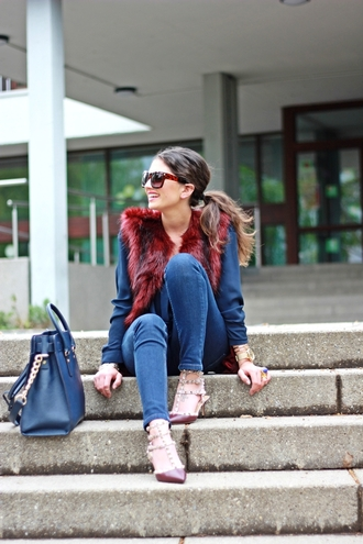 fashionhippieloves jacket blouse jeans shoes bag jewels sunglasses