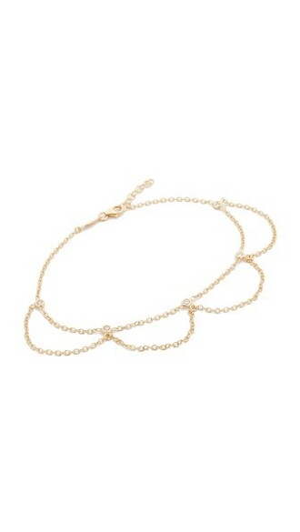 scalloped anklet gold jewels