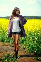 perla oreneta,t-shirt,shorts,coat,shoes