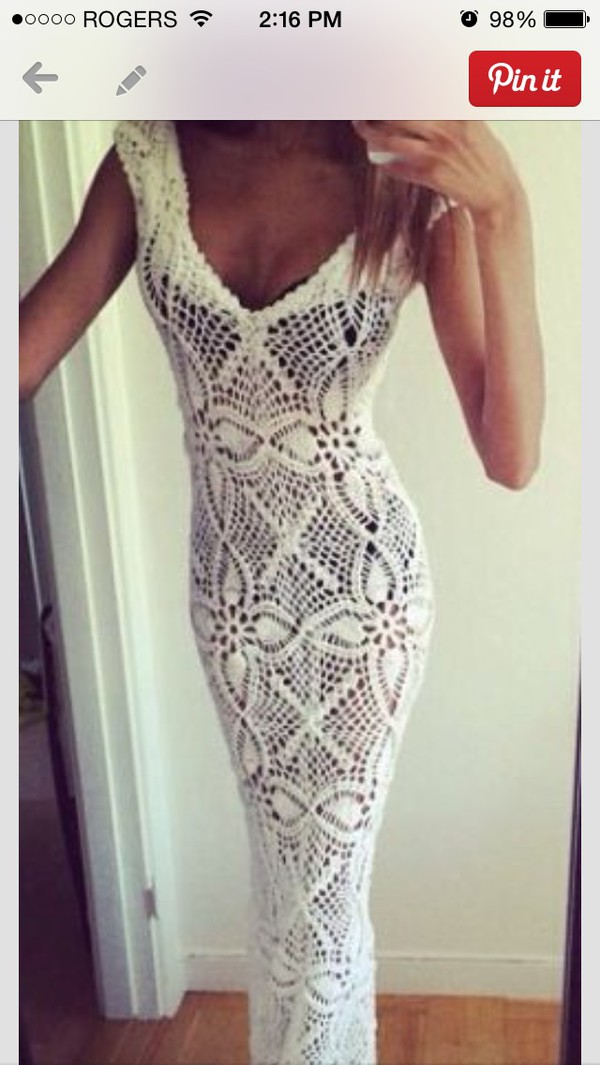 long white dress knitwear