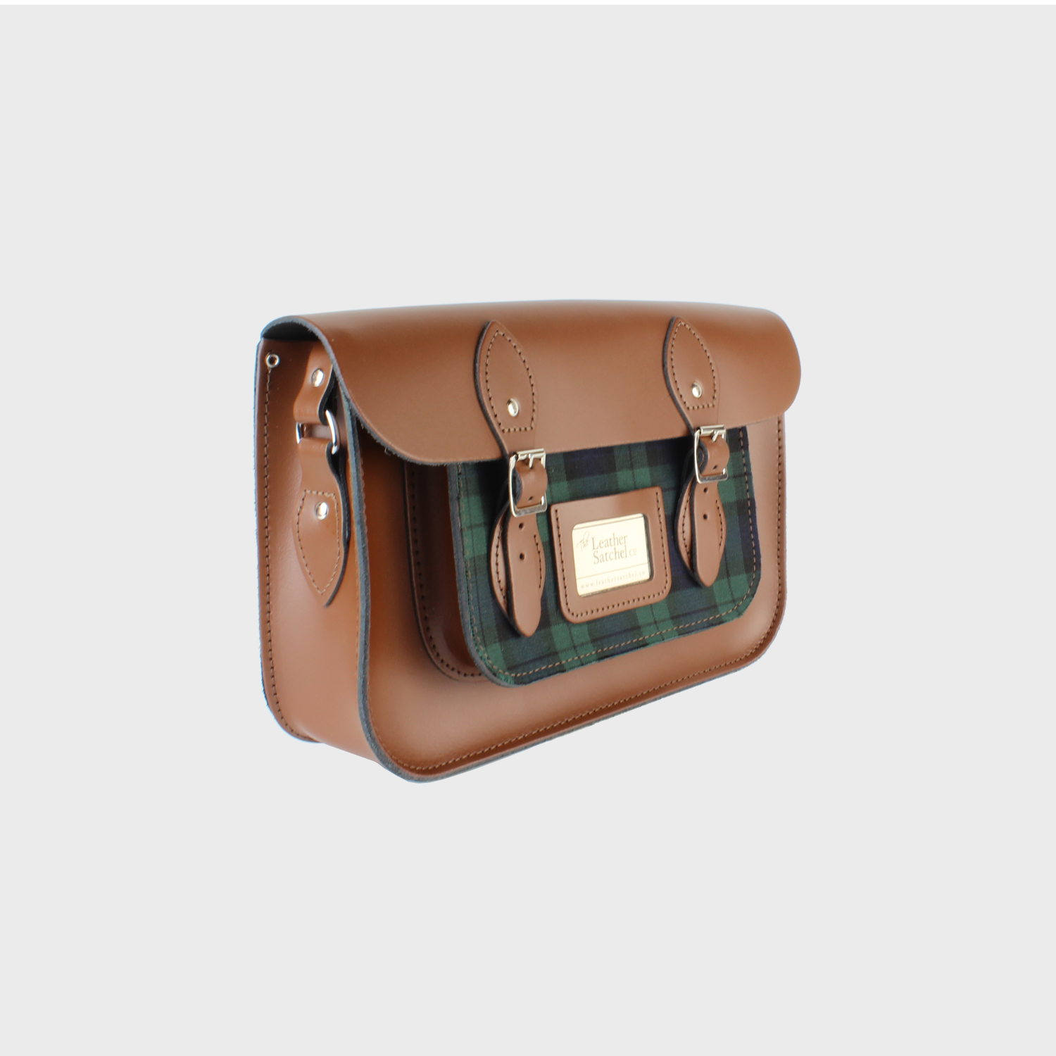Classic Snow White Leather Satchel 12.5 inch - The Leather Satchel Co.