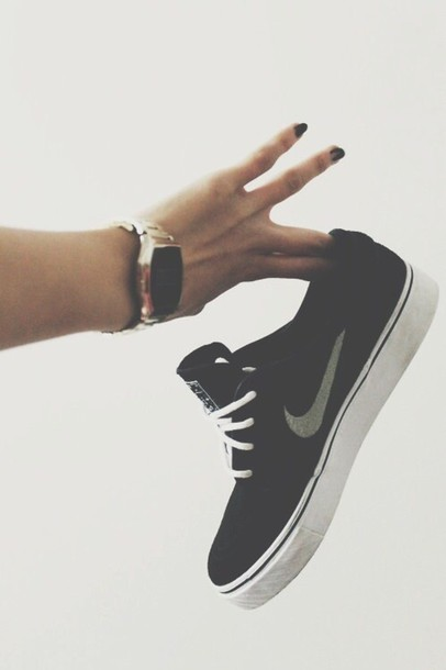 shoes nike sneakers black heels sports shoes