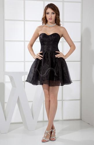 Black Informal A-line Sweetheart Backless Mini Plainness Homecoming Dresses - iFitDress.com