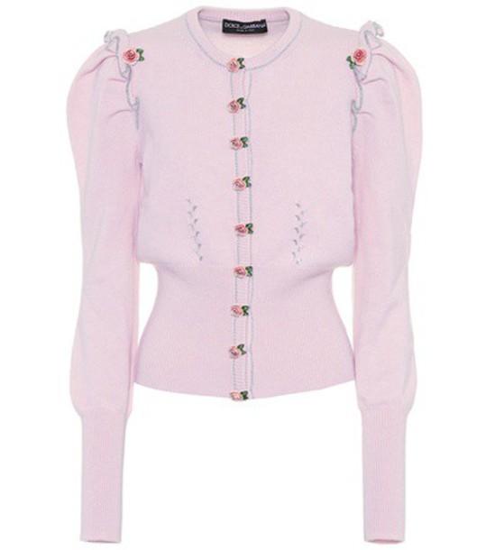 Dolce & Gabbana cardigan cardigan pink sweater