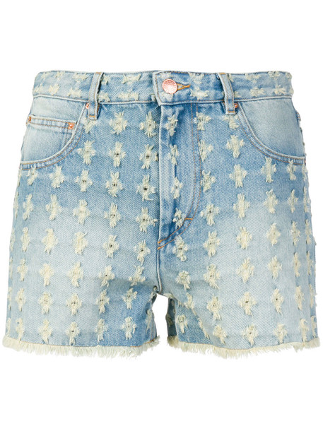 Isabel Marant etoile shorts denim shorts denim high women cotton blue
