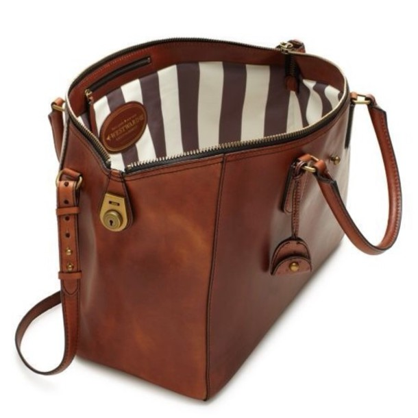 Bag: kate spade, brown leather bag, tote bag - Wheretoget