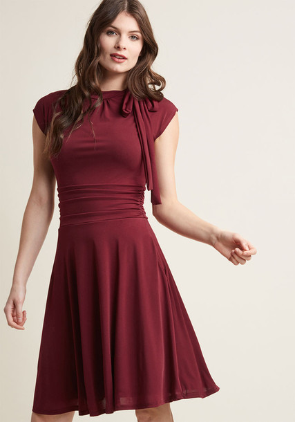 Modcloth dress dance burgundy red