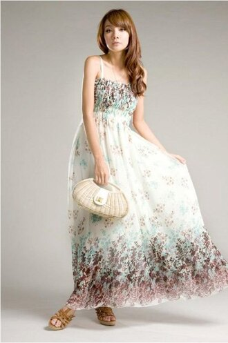 dress printing summer dress casual dress exotic bohemian dress strapless dress maxi dress