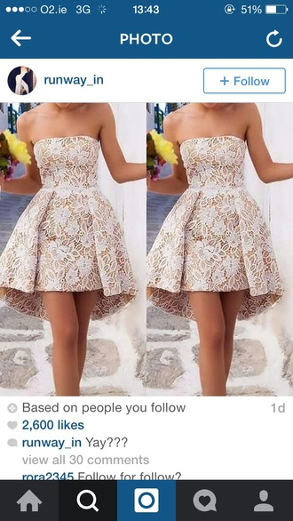 dress lace dress skater dress beige dress sleeveless dress