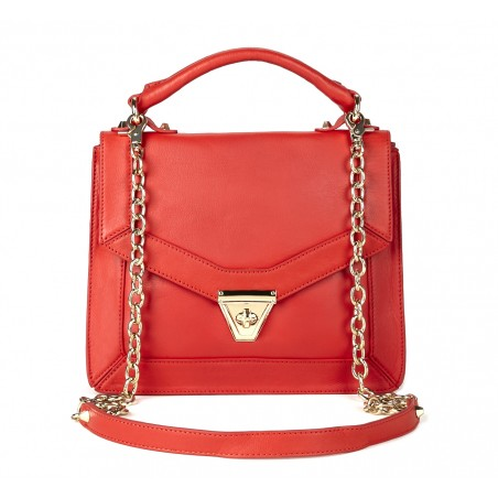 Sole Society - Medium shoulder bag with chains - Lisette - Poppy