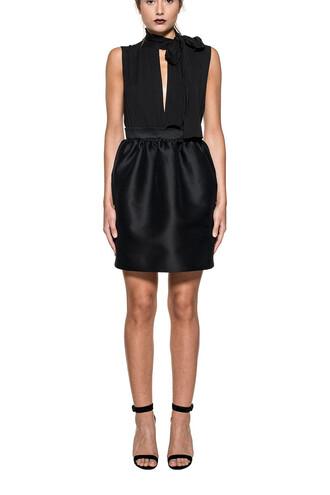 dress silk dress black silk wool