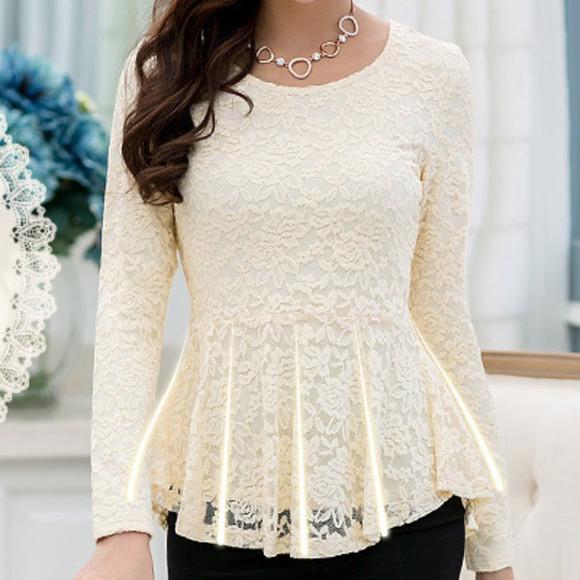 lace shirt vintage