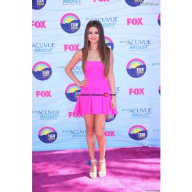 Selena Gomez Short Pink Mini Cocktail Party Prom Celebrity Dresses Teen Choice Awards 2012