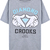 Grey Short Sleeve Hands Diamond Print T-Shirt - Sheinside.com