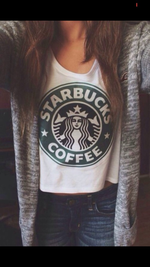 cardigan tumblr outfit tumblr starbucks coffee cute hollister top