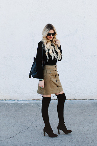 a little dash of darling blogger suede skirt thigh high boots