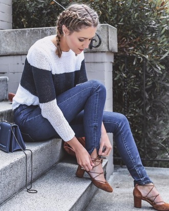 the classy cubicle blogger dress belt bag jewels jacket jeans sunglasses shoes shirt tank top top sweater pants