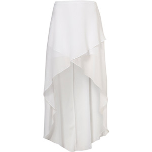 White Wrap Front Maxi Skirt - Polyvore
