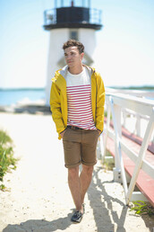 scout sixteen,jacket,shoes,jewels,menswear,striped shirt,raincoat,summer outfits,mens shorts