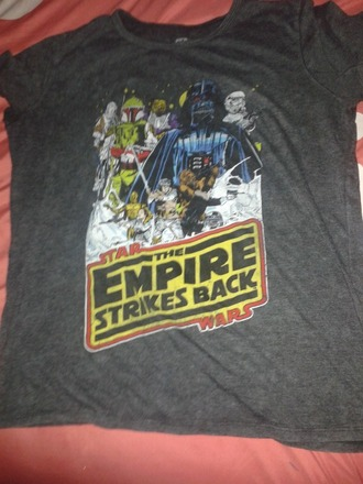 t-shirt grey star wars