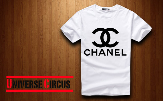 Cc chanel printed tshirt loose style by universecircus on etsy