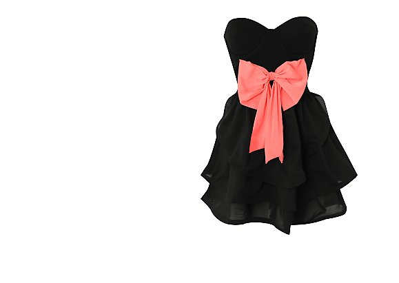 REVERSE  Bow Bandeau Dress - BANK Fashion