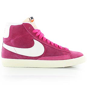 NIKE WMNS BLAZER MID SUEDE VINTAGE - Retro-Sneaker Mid-Cut - pink/weiß - KICKZ.COM