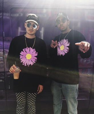 sweater gnash sweatshirt flowers
