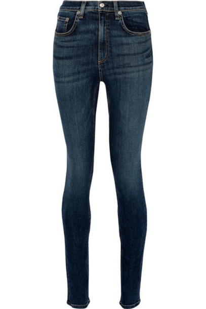 Rag & bone - Dive Mid-rise Skinny Jeans - Dark denim