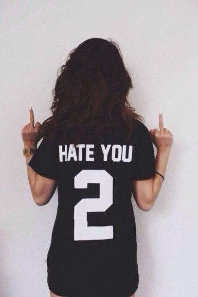 Hate You 2 Hate You Too Jersey Baseball Team T-Shirt Tumblr shirt Unisex Men Women Shirt
