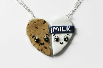 jewels sweet cookie milk friends necklaces for 2 bbf