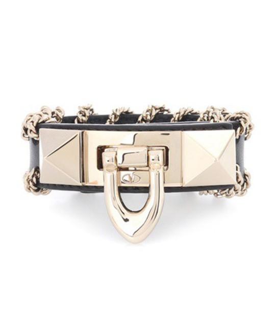Valentino embellished leather black jewels