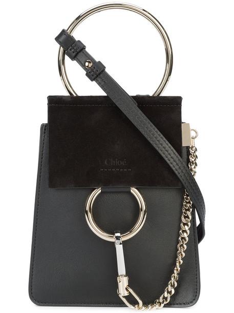 mini women bag shoulder bag leather suede black