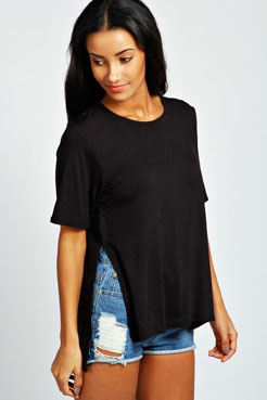 Cameron Split Side Oversized Tee