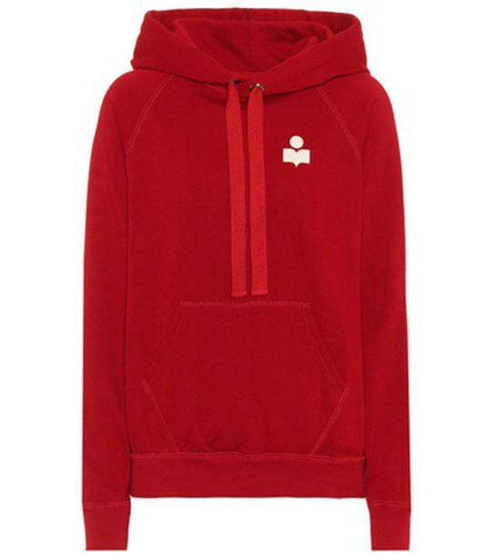 Isabel Marant, Étoile hoodie cotton red sweater