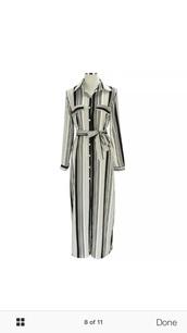 dress,striped dress,maxi dress,black and white dress,shirt dress