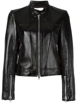 jacket women vinyl cotton black