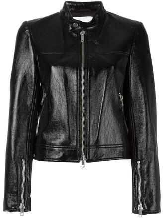 jacket women vinyl cotton black