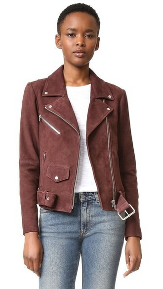 jacket dark classic suede