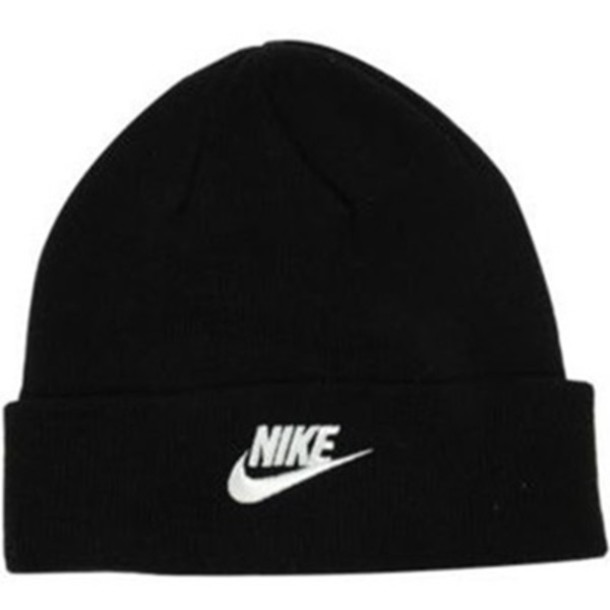 hat beanie nike black cap vintage hipster swag sporty c5e12fa0ad7