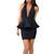 Sofia - Black Halter Backless Ruffle Bandage Dress | Emprada