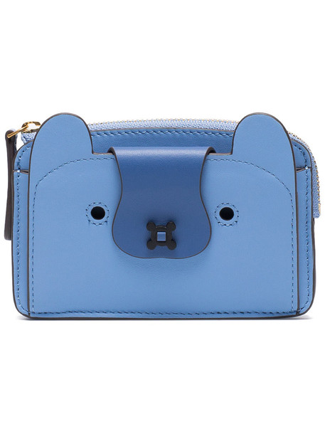women purse leather blue bag