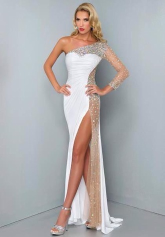 formal prom dress dress white dress prom classy sexy dress prom 2015