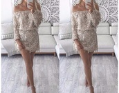 dress,shimmery hanging sequins o